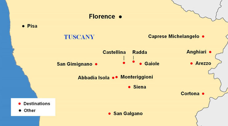 Guided Vacation in Tuscany